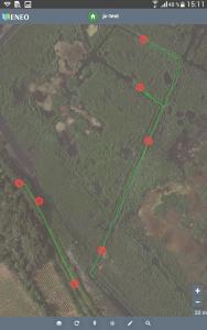 application mobile MyENEO pièges (en rouge) et tracking (en vert)
